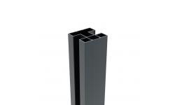 BOSTON - Poteau renforcé en aluminium 75 x 75 mm - 2340 mm